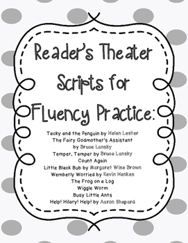 Reader's Theater Scripts for Fluency Practice