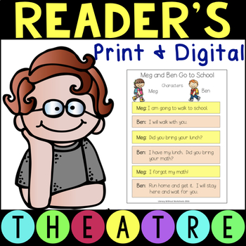 Reader's Theatre Scripts with Two Characters Includes Comprehension Questions