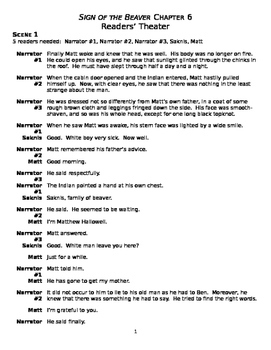 Reader's Theater: Sign of the Beaver Ch. 6