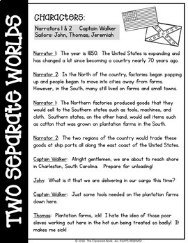 Reader's Theater Script: The Civil War (Differences Between the North and South)