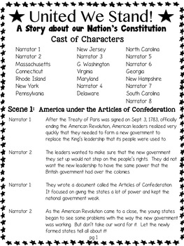 Reader's Theater: The Constitution-United We Stand! (leveled script)