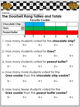 Reader's Theater: The Doorbell Rang with props, worksheets, and writing prompts