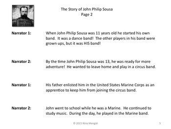 Reader's Theater The Story of John Philip Sousa - Great Non-Fiction!