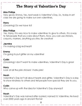 Reader's Theater: The Story of Valentine's Day