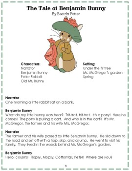 Reader's Theater: The Tale of Benjamin Bunny