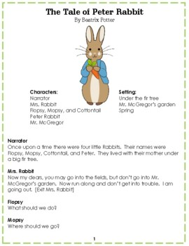 Reader's Theater: The Tales of Beatrix Potter