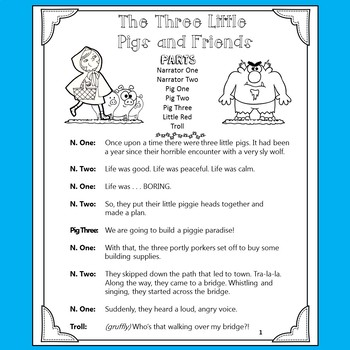 Reader's Theater: The Three Little Pigs and Friends