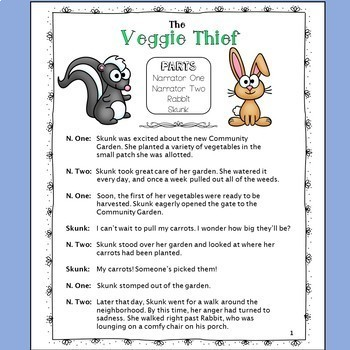 FREE Reader's Theater: The Veggie Thief - a Whodunnit in the Community Garden