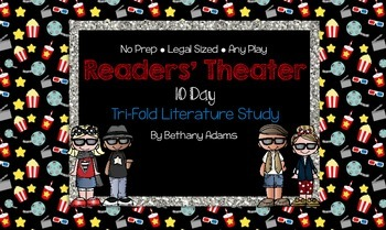 Reader's Theater Tri-folds *No Prep* Legal Size