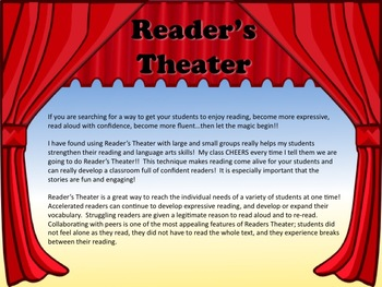 Reader's Theater WE LOVE GARNDPARENT'S DAY!! Great for School Program!