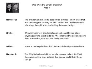 Reader's Theater WHO WERE THE WRIGHT BROTHERS? - Great Non-Fiction!