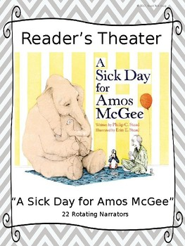 """Reader's Theater for """"A Sick Day for Amos McGee"""" by Philip C. Stead"""