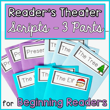 Reader's Theater for Beginning Readers with 3 Characters! {Holiday}
