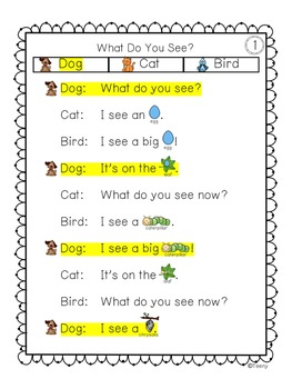 Reader's Theater for Beginning Readers with 3 Characters! {Spring}
