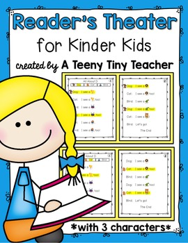 Reader's Theater for Kinder Kids with 3 Characters! {Back