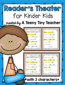 Reader's Theater for Kinder Kids with 3 Characters! {Fall}