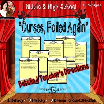 Reader's Theater Script + Lessons Engaging Melodrama for Middle & High School