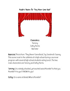 """Reader's Theater for """"They Never Came Back"""" by Caroline B. Cooney"""