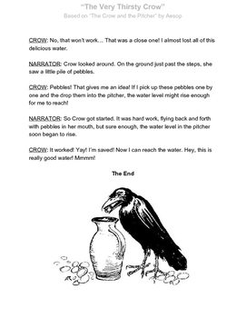 Reader's Theater for Two: The Very Thirsty Crow
