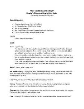 Reader's Theater or Read-a-thon Script