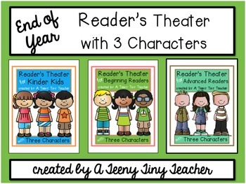 Reader's Theater with 3 Characters {End of Year Bundle}