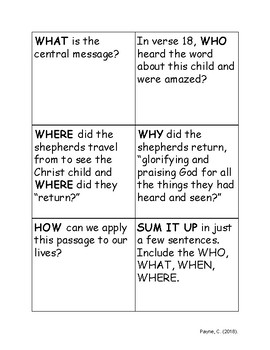 Reader's Theater with Follow-Up Discussion Cards from Luke 2: The Birth of Jesus