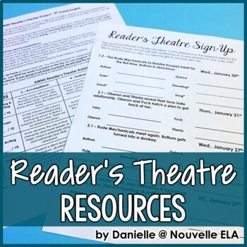 Reader's Theatre Activity for A Midsummer Night's Dream an