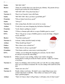 Reader's Theatre: Arthur's Christmas
