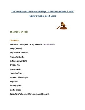 Reader's Theatre: Court Scene