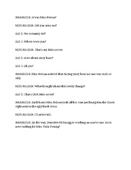 Reader's Theatre Script- Miss Nelson is Missing (Editable)