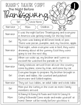 Reader's Theatre: The Night Before Thanksgiving