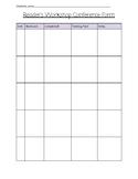 Reader's Workshop Conference form