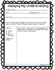 Reader's Workshop- Conferring notes for Teacher