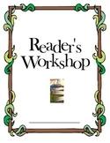 Reader's Workshop Cover Sheet for Binders, Booklets, or Spirals