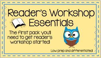 Reader's Workshop Essentials Pack - Secondary elementary and middle school