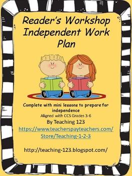Reader's Workshop Independent Work Plan