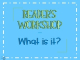 Reader's Workshop Launch