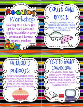 Reader's Workshop Mentor Texts and Vocabulary Cards by Skill