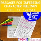 Reader's Workshop Mini Lesson and Reading Passages: Inferring Character Feelings