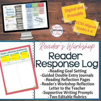 Reader's Workshop: Reader Response Log for ANY NOVEL! Digita