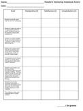 Reader's Workshop - Reader's Notebook Rubric for Assessment