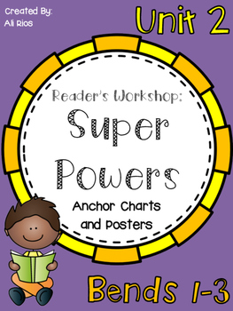 Reader's Workshop - Reading Super Powers! Anchor Charts an