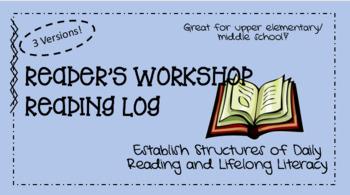 Reader's Workshop Record Log
