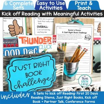 Launching Reader's Workshop Back to School Activities