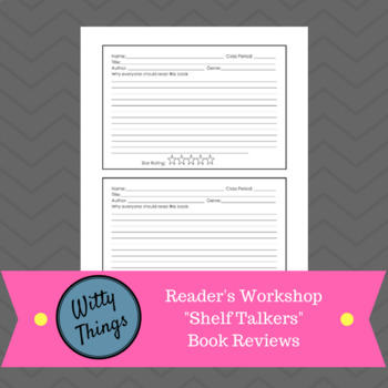"Reader's Workshop ""Shelf Talkers"" Book Reviews"