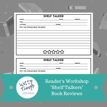 """Reader's Workshop """"Shelf Talkers"""" Book Reviews"""