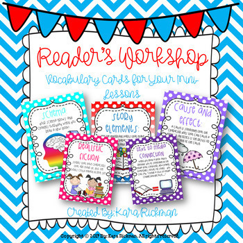 Reader's Workshop: Vocabulary Cards for Mini-Lessons