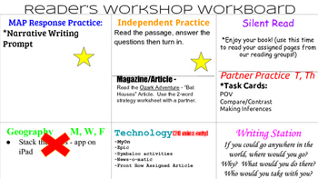 Reader's Workshop Workboard