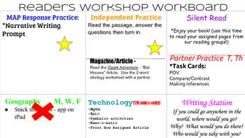 Reader's Workshop Workboard