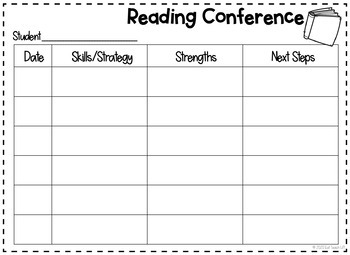 Reader's and Writer's Workshop Conferencing Sheets
